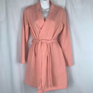 UGG women's peach robe with belt, size small